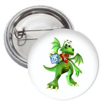Ansteckbutton - KDE Konqui