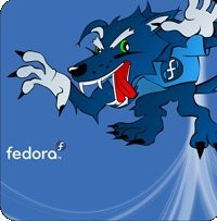 Notebook-Sticker - Fedora Werewolf
