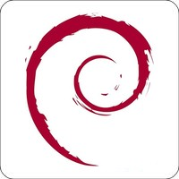 Notebook-Sticker - Debian Swirl
