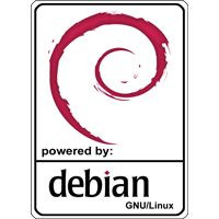Notebook-Sticker - Debian