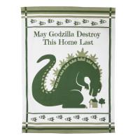 """Geschirrhandtuch """"May Godzilla destroy this home last"""""""