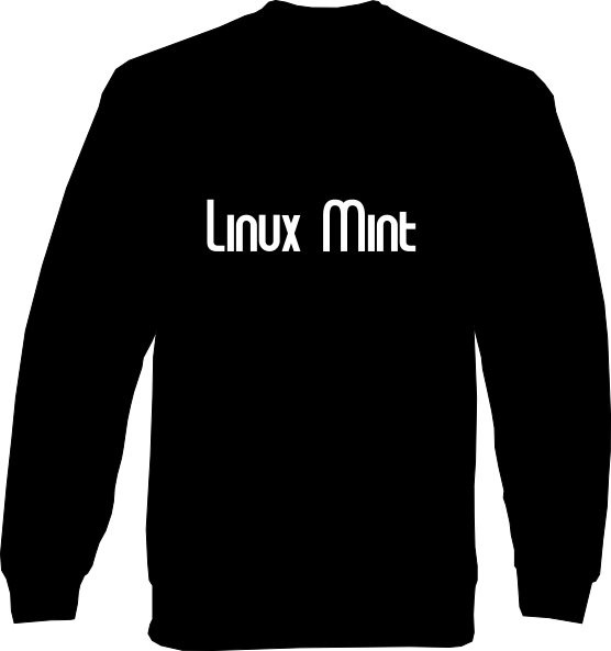 Sweat-Shirt - Linux Mint Schrift