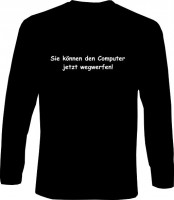 Langarm-Shirt - Computer wegwerfen