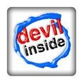 PC-Sticker - devil inside blau