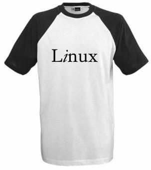 T-Shirt - Linux - schwarz/weiss