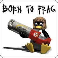 Tasten-Sticker - Born to frag
