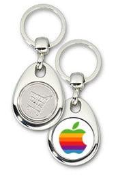 Schlüsselanhänger - Metall - Apple - Einkaufswagen-Chip