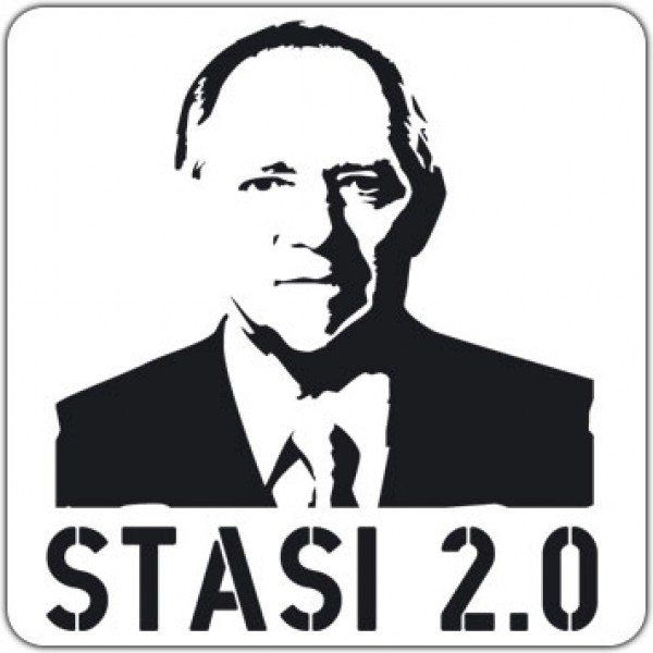 Notebook-Sticker - Stasi 2.0