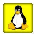 PC-Sticker - Linux - gelb