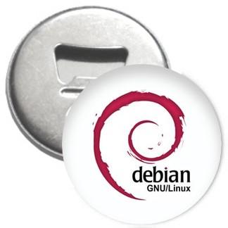 Flaschenöffner + Magnet - Debian GNU/Linux