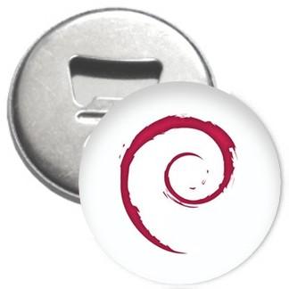Flaschenöffner + Magnet - Debian