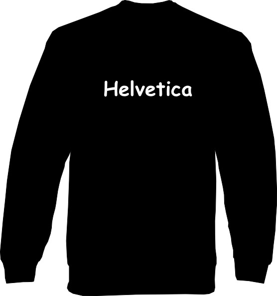 Sweat-Shirt - Helvetica