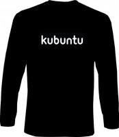 Langarm-Shirt - kubuntu Schrift