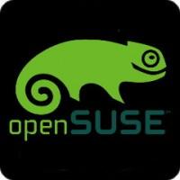 Notebook-Sticker - openSUSE - schwarz