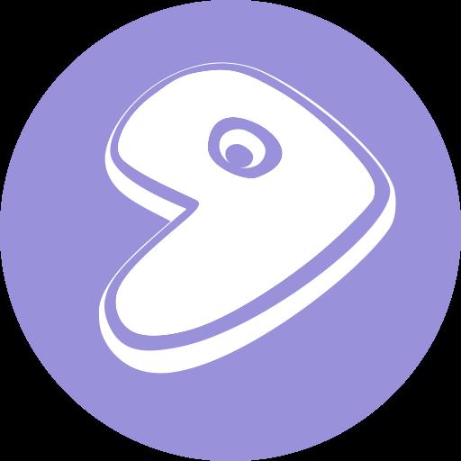 Notebook-Sticker - Gentoo Logo - rund