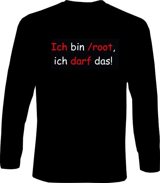 Langarm-Shirt - Ich bin /root