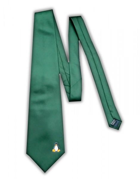 Linux Krawatte - Pinguin Tux - grün