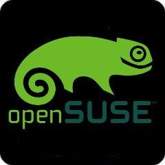Tasten-Sticker - openSUSE - schwarz