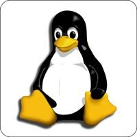 Maxi-Sticker - Tux Pinguin
