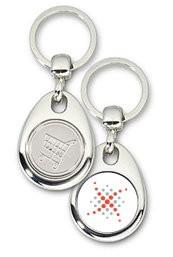 Schlüsselanhänger - Metall - Xandros - Einkaufswagen-Chip