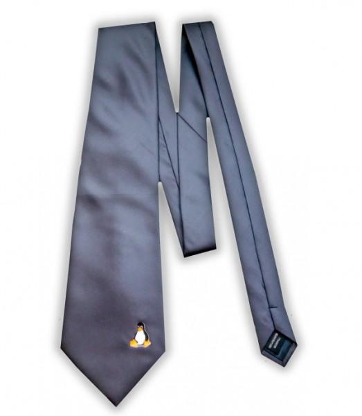 Linux Krawatte - Pinguin Tux - anthrazit