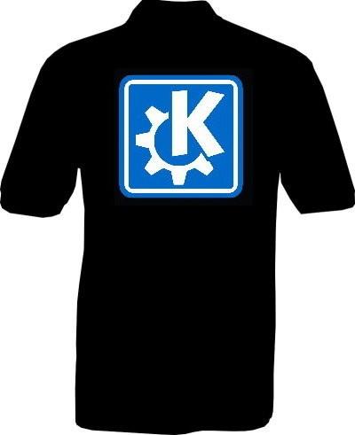 Polo-Shirt - KDE - Rückseite