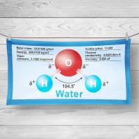 Dihydrogenmonoxid Strand- und Badehandtuch