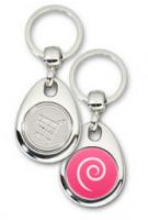 Schlüsselanhänger - Metall - Debian Logo einfach - Einkaufswagen-Chip