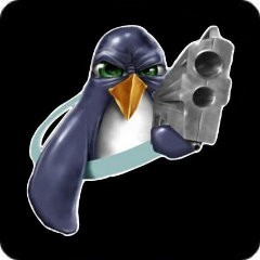 Notebook-Sticker - Tux Gun
