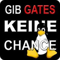 Tasten-Sticker - Gib Gates keine Chance - Pinguin