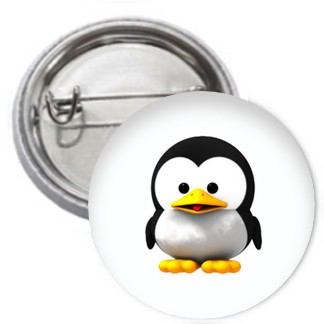 Ansteckbutton - Baby Tux
