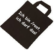 Baumwolltasche - ich bin /root